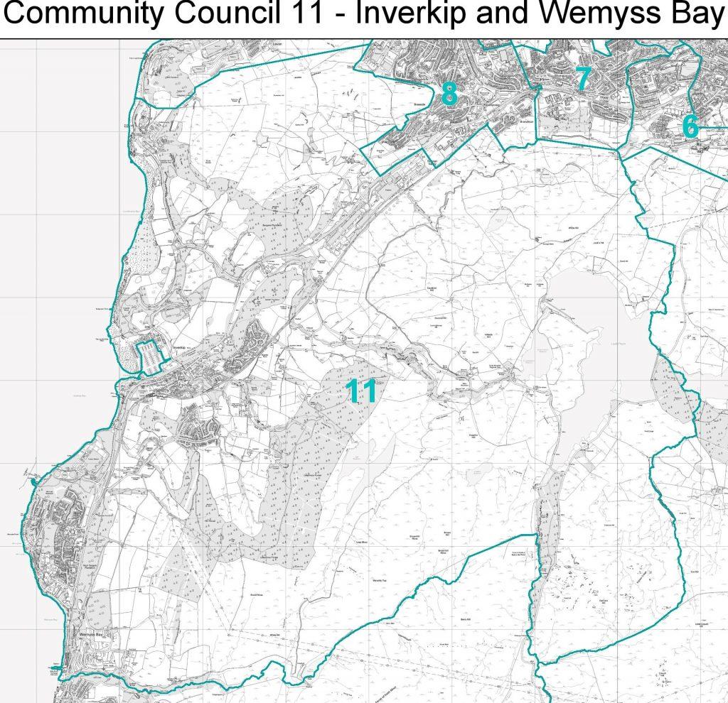 inverkip-wemyss-bay-community-council-boundary-map